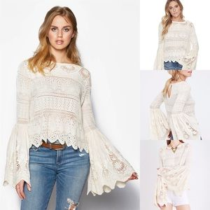 Free People Once Upon A Time Crochet Top